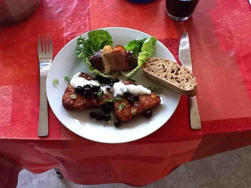 Springbukkebøf med gorgonzolasauce