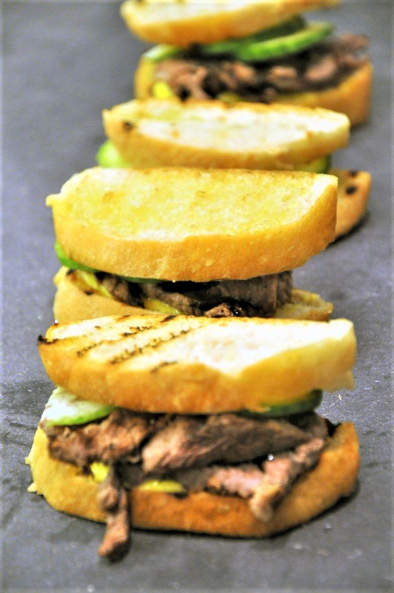 Sandwich med Grillet oksemørbrad
