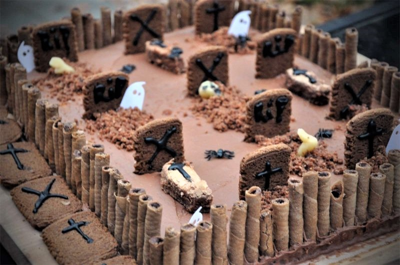 Halloween kage kirkegård