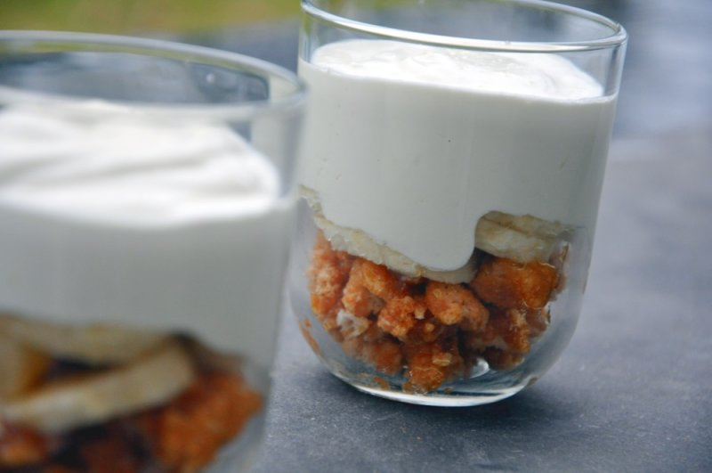 Banan-yoghurt creme brulée