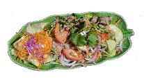 Varm Thailandsk oksekøds salat