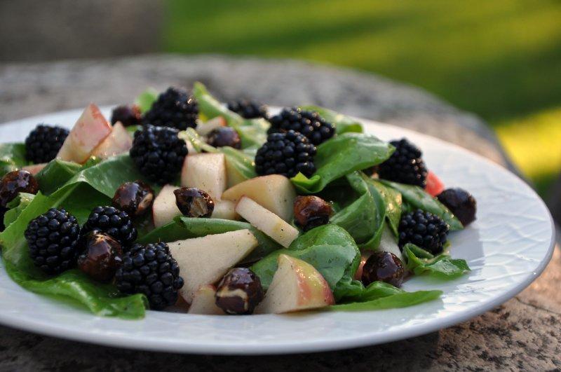 Brombær salat