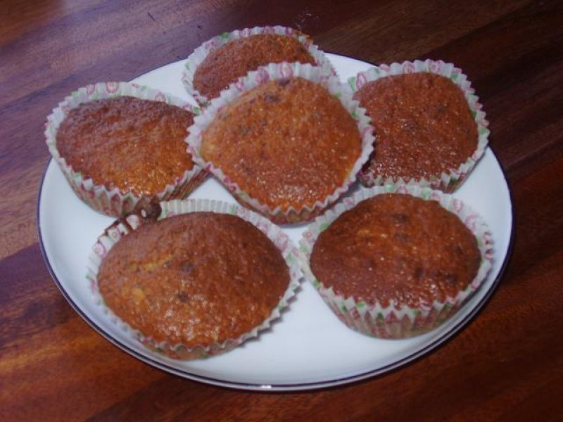 Banan Muffins med kokos & chokolade