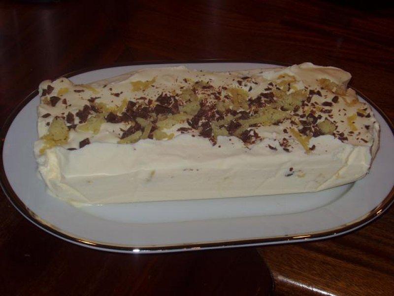 Is med marcipan & chokolade stykker