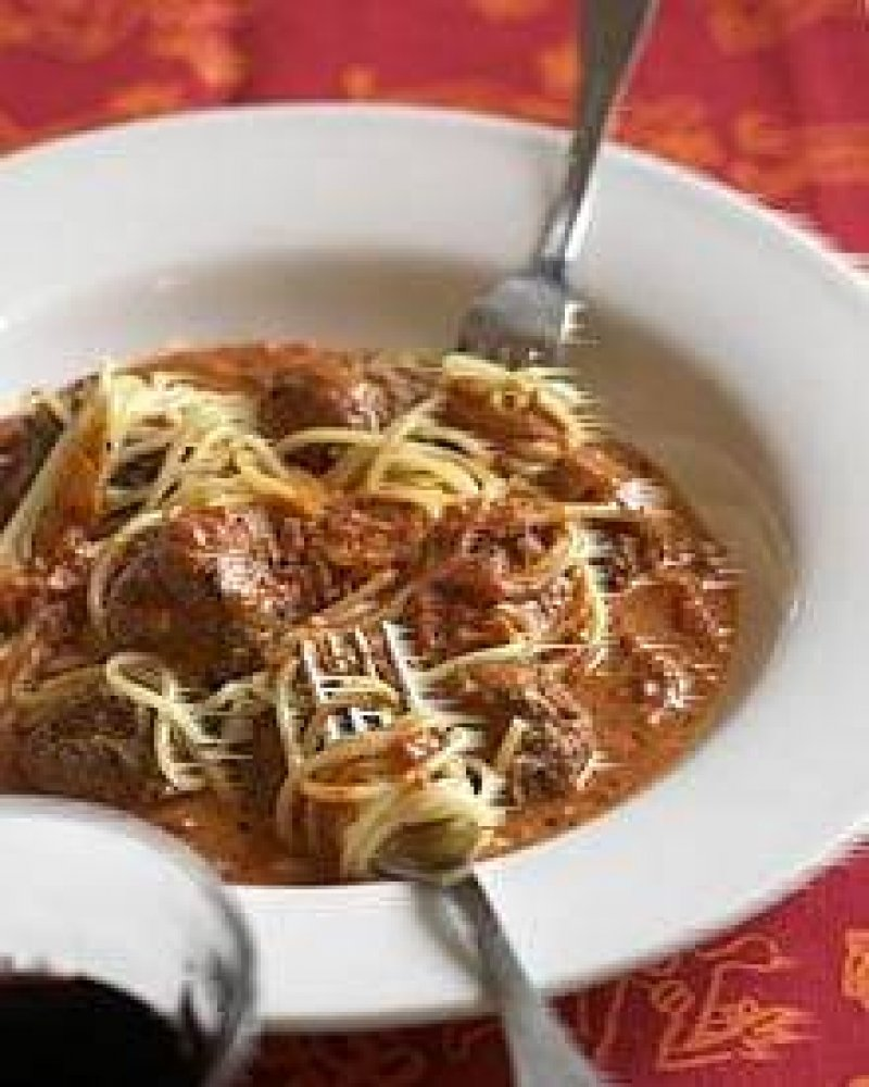 Lady og Vagabonden spaghetti