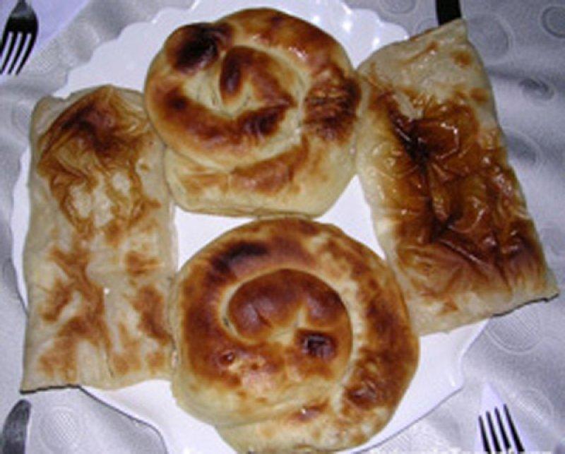 Banitsa (Bulgarsk) med feta Dobrudzja-Banitsa