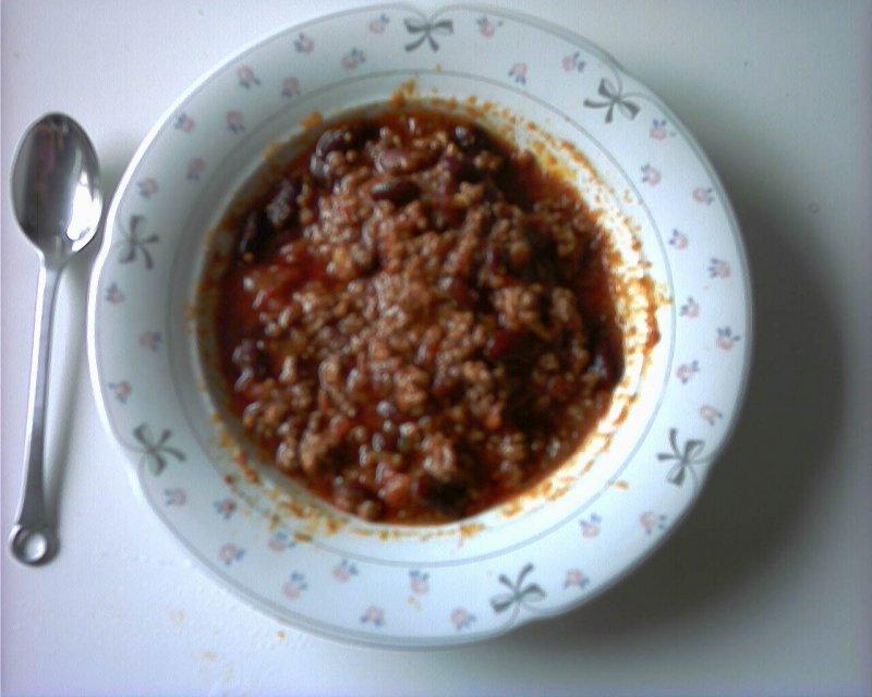Chili con carne, med oksefars