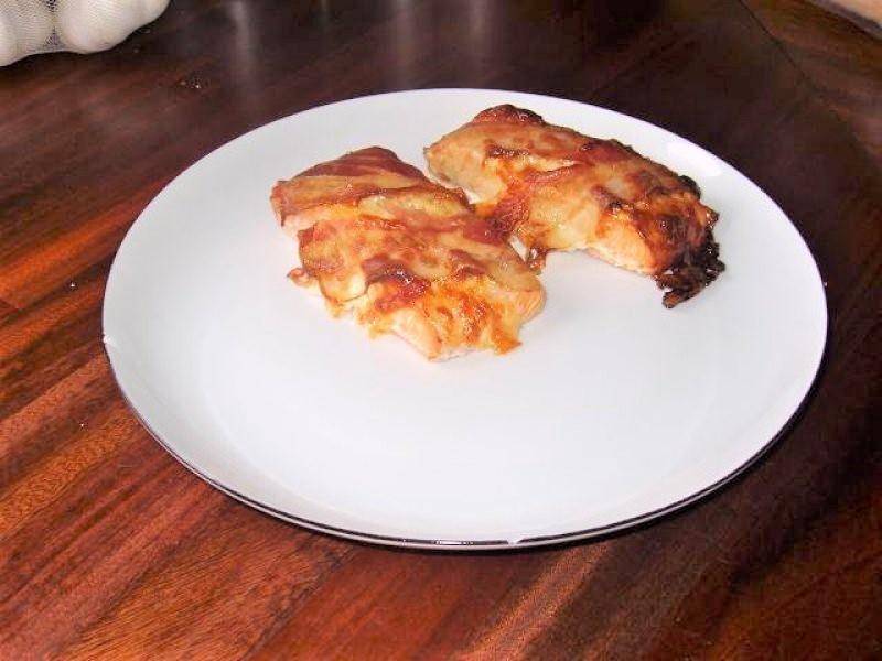 Laksebøffer med bacon & ost