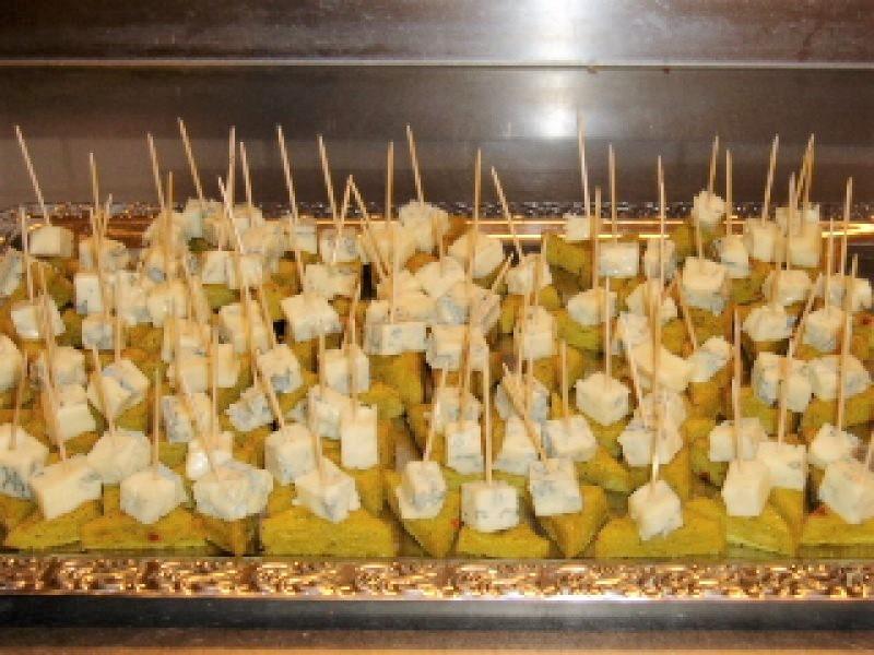 Urtepolenta med gorgonzola