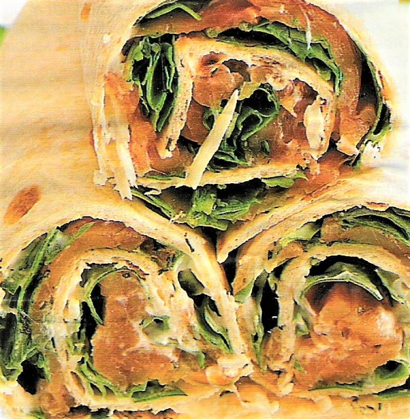 Pandekage/wraps med røget laks